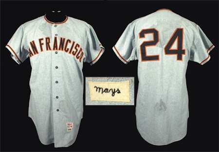 1971 Willie Mays San Francisco Giants Game Worn Jersey