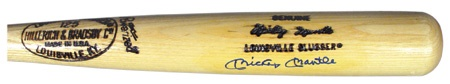 Mickey Mantle Autographed Bat (35