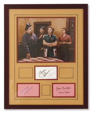 Honeymooners Color Photograph with Signatures