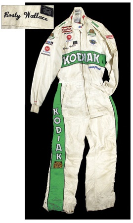 Circa 1989 Rusty Wallace Race Worn Driver's Suit