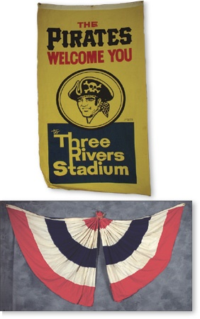 Three Rivers Stadium Banner & Bunting From Opening Day
