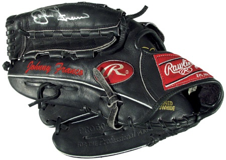 John Franco Autographed Game Used Glove