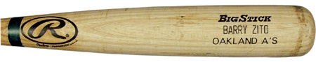"2002 Barry Zito Game Used Bat (34"")"