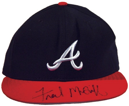 1995 Fred McGriff Autographed All-Star Game Worn Cap