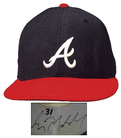 1995 Greg Maddux Autographed All-Star Game Worn Cap
