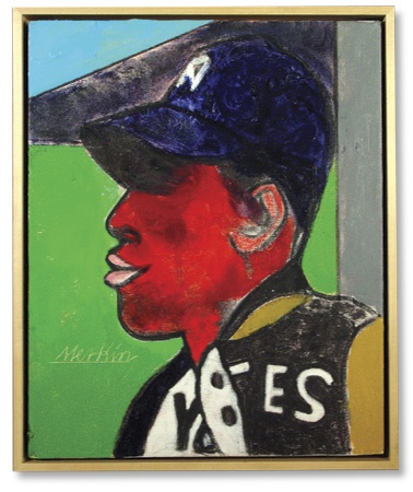 "Satchell Paige Original Artwork by Richard Merkin (16x20"")"