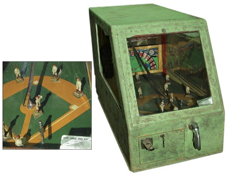 1940's Large Baseball Novelty Pin Ball Machine