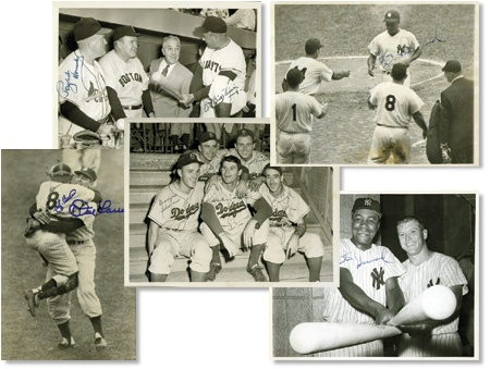 Autographed Baseball Wire Photograph Collection (32)