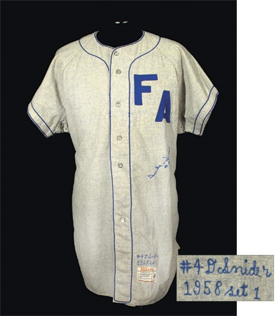 1958 Duke Snider Signed Game Worn Jersey