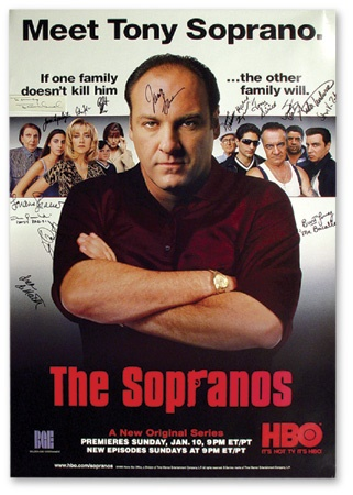 "Sopranos Signed Poster (40x27"")"