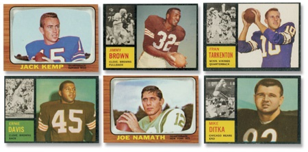 1962 and 1966 Topps Football Complete Sets