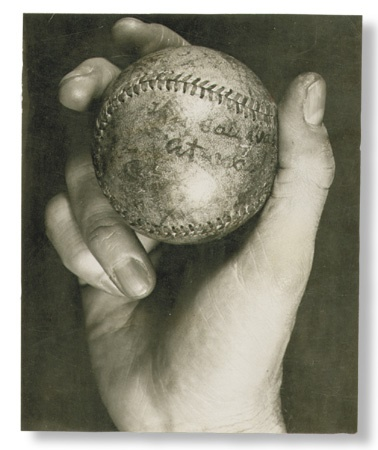 "Cy Young 500th Win Ball Photo (4.75x6"")"