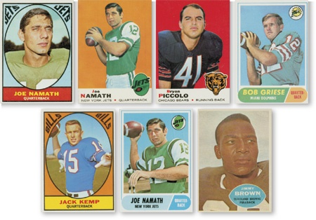 Four 1960's Topps Football Sets (1960, '67, '68, & '69)