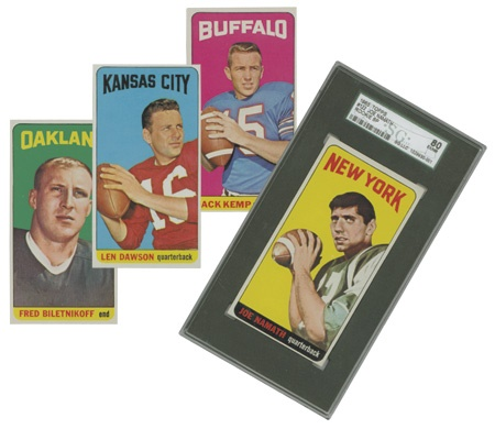 1965 Topps Football Set with Namath SGC 80 (EX-NM)