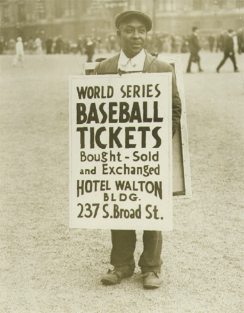 1930 World Series Ticket Scalping Photograph.