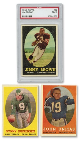 1958 Topps Football Set with Jim Brown PSA 7