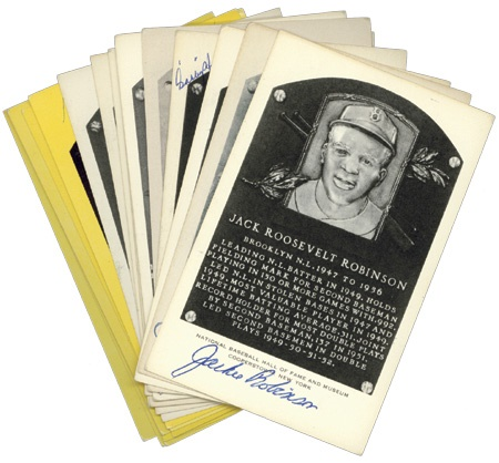Signed Hall of Fame Plaque Collection (19)