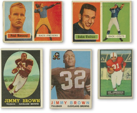 1950s Topps Football Complete Set Lot (5)