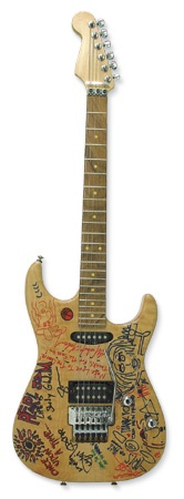 Pearl Jam Signed Guitar