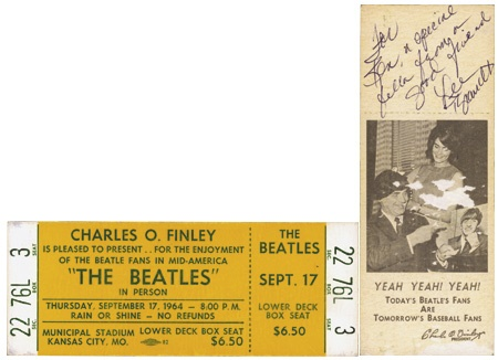 Beatles Tickets - auction