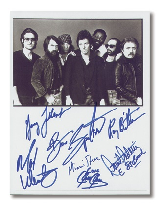 Bruce Springsteen and the E Street Band Signed 8x10