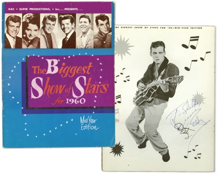 "Two 1960 ""Biggest Show of Stars"" Autographed Tour Programs (2)"