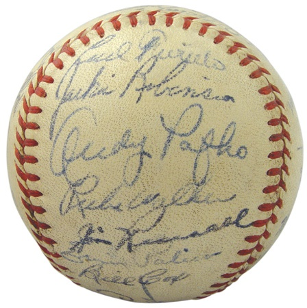 The Team That Bobby Thomson Killed With His Shot Heard Round The World -- 1951 Brooklyn Dodgers Signed Baseball