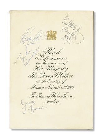 Beatles Autographs - auction