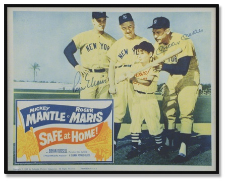"1962 Mantle & Maris Signed Lobby Card (11x14"")"