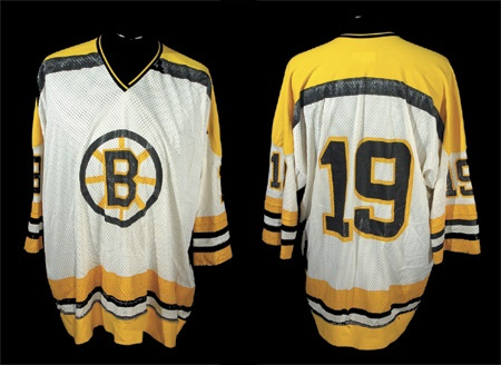 Rare 1972-73 Boston Bruins Mesh Playoff Game Worn Jersey