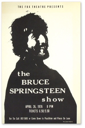 "The Bruce Springsteen Show Fox Theater Atlanta Poster (22x14"")"