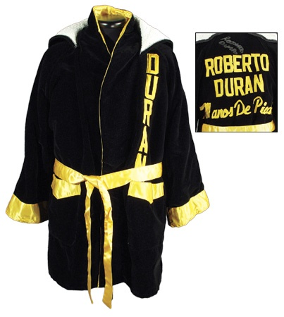 Roberto Duran Autographed and Worn Robe
