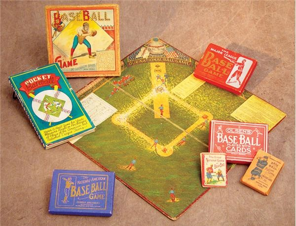 Assorted Baseball Games Collection with 1892 McLoughlin (14)