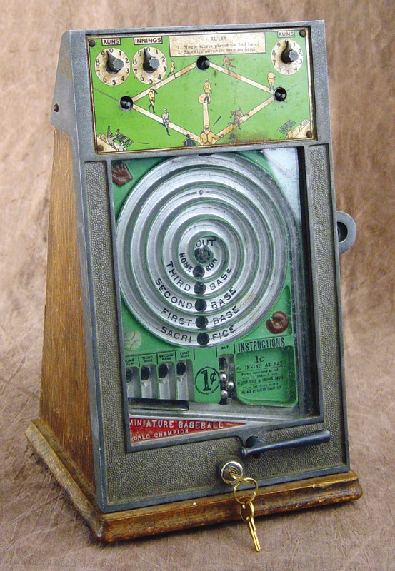 1940's Baseball Coin Operated Machine
