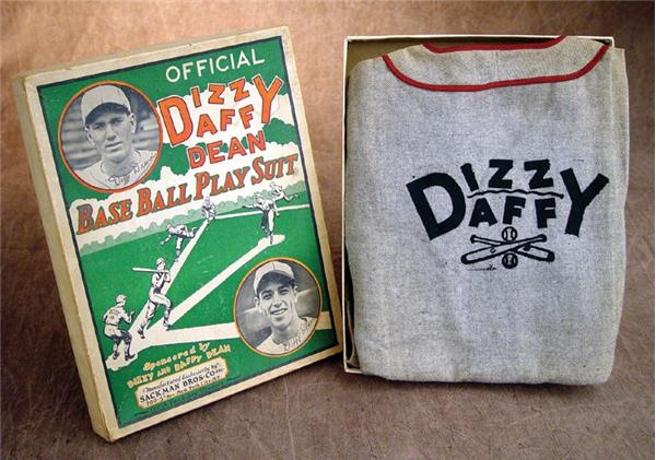 1930's Dizzy & Daffy Baseball Uniform in Box