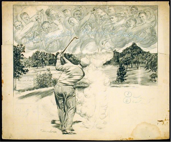 1940 Ben Hogan Artwork by Burris Jenkins, Jr. (19.5x22.5