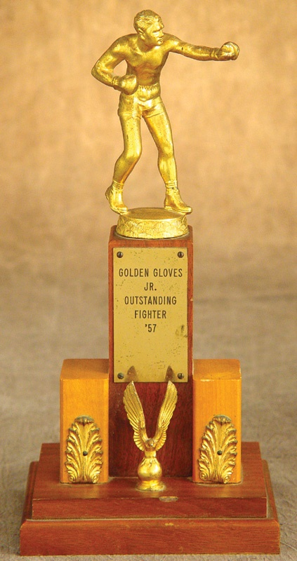 1957 Cassius Clay Golden Gloves Trophy (12.5
