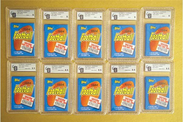 1984 Topps Football Packs GAI 9 & 9.5 (100)