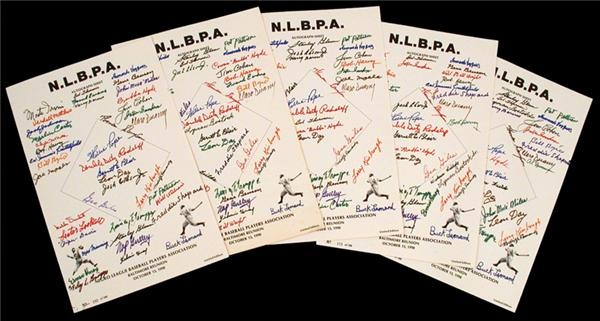 Negro League Signed Team Sheets (5)