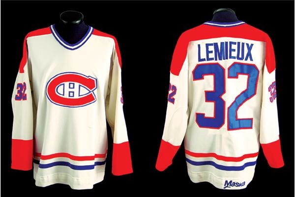 brand new bb6ad a08e0 1983-84 Claude Lemieux Montreal Canadiens Game Worn Rookie ...
