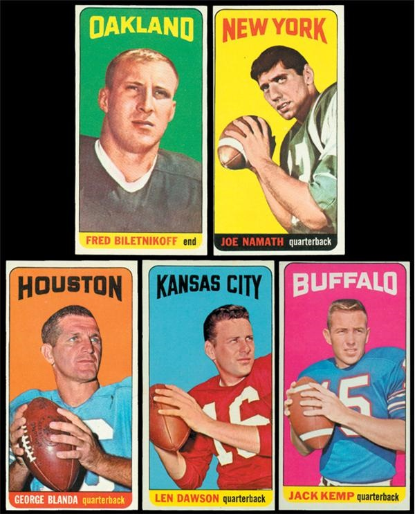1965 Topps Football Set NRMT w/ Wrapper and Rub-Offs