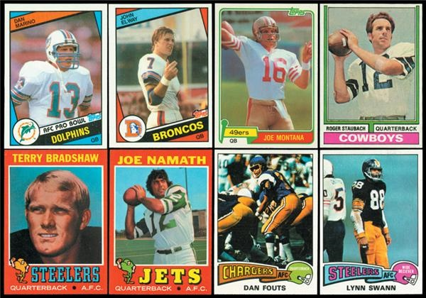 1970-1980's Topps Football Set Lot (5)