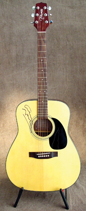 Graham Nash Personally Owned and Signed Guitar
