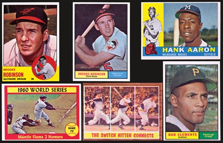 1960s Topps Baseball Card Collection Of Near Complete Sets
