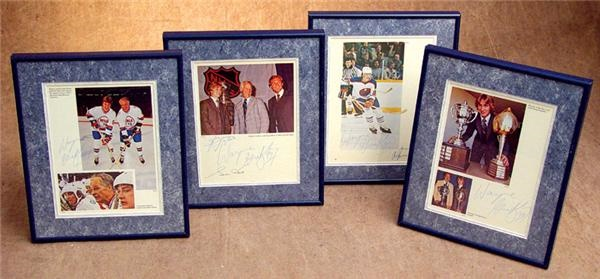 Early 1980 Wayne Gretzky Autograph Collection (4)