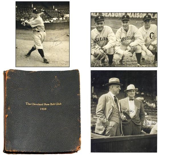 1928 Cleveland Indians Signed Photo Album from Alva Bradley