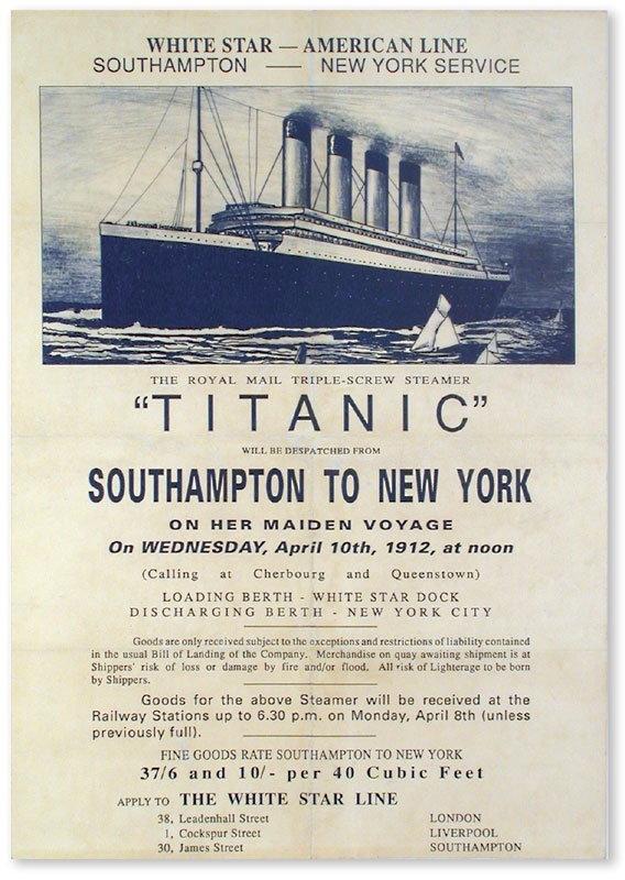 The Titanic Maiden Voyage Advertising Poster