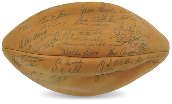 1962 Green Bay Packers Team Signed Football