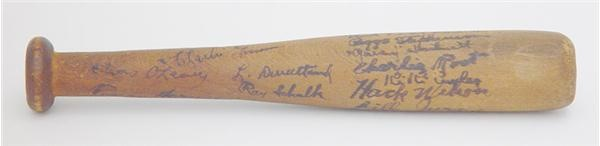 "1931 Chicago Cubs Signed Mini-Bat (7"")"