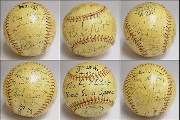 1934 New York Yankees Team Signed Baseball